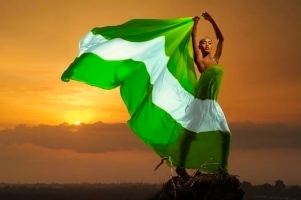 MODEL-FLYING-NIGERIAN-FLAG